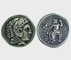 Silver tetradrachm, Alexander III the Great BC), Macedonia, BC (posthumous issue). Alexandre Le Grand, My Legacy, Alexander The Great, Macedonia, Artemis, Ancient Greek, Athens, Greece, Alphabet
