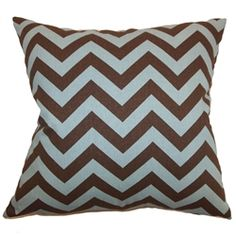 This zigzag throw pillow comes with an engaging print pattern that would certainly liven up your space. This accent pillow features a stunning print pattern in brown and blue hues. This decor pillow adds a rustic and relaxing vibe to your living room or bedroom. Throw this square accessory with other zigzag pillows for a fun decor style. Made from 100% high-quality cotton fabric. $55.00   #zigzag  #homedecor  #tosspillow  #chevron