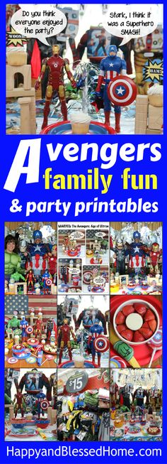 Everything you need to host a Superhero birthday party of Avengers movie watch - complete with party plan, easy recipes and printables - family fun for all your favorite Superheroes! DIY Superhero theme.