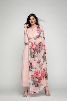 Peach Bias-Cut Dress