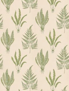 Woodland Fern, a feature wallpaper from Sanderson, featured in the A Painter's Garden collection.