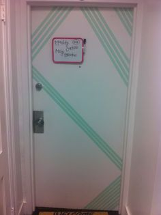 Decorate Dorm Room Door w/ washi tape. Super easy!