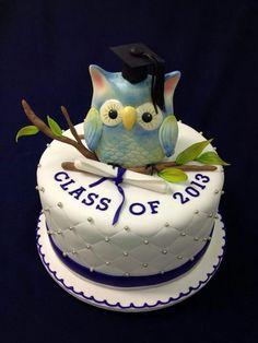 Cake Decorating Classes Des Moines : Fondant Owl Cake Topper Owl Cake birthday party girl boys kids kid chil children Owls Owl hibou ...