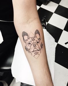 French bulldog tattoo ( @gussinaround )