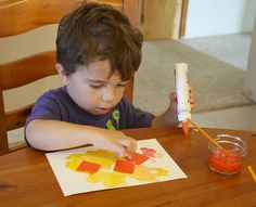 Invitation to Create: Fall Art for Toddlers and Preschoolers~ Buggy and Buddy