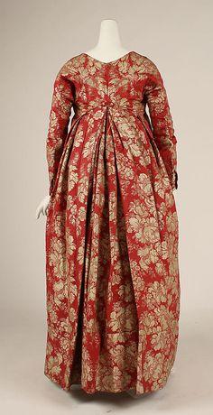 Dress 1790's French silk - interesting front fastening