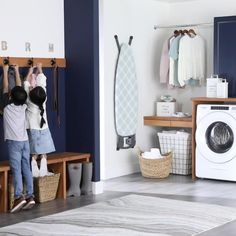 Organize your kid's backpacks by creating a custom storage area with new wall hooks from Better Homes & Gardens at Walmart. #organization #storage #wallhooks #wallhooksideas #wallstorage #laundryroom #mudroom #kidsroom #hallway #entryway #backpackstorage #backpackorganization #DIY Creative Kids Rooms, Dressing Room Design, Towel Hooks, Laundry Room Design, Useful Life Hacks, New Wall, Better Homes And Gardens, Home Bedroom, Mudroom