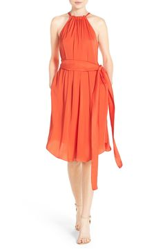 BCBGMAXAZRIA 'Britan' Satin Trapeze Dress available at #Nordstrom