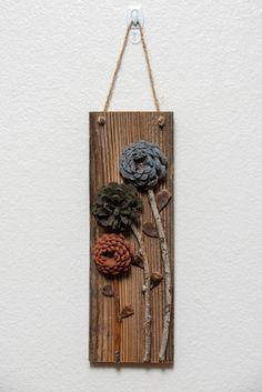 Diy Crafts Hacks, Diy Home Crafts, Creative Crafts, Diy Crafts To Sell, Fall Crafts, Wood Crafts, Christmas Crafts, Arts And Crafts, Pine Cone Art
