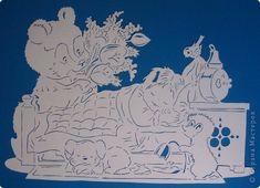 Картина панно рисунок День рождения Вырезание Доброе утро Бумага фото 6