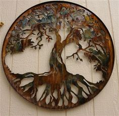 "Excellent ""metal tree wall art diy"" detail is offered on our site. Read more and you wont be sorry you did. Metal Art Decor, Metal Tree Wall Art, Diy Wall Art, Wall Decor, Metal Artwork, Room Decor, 3d Wall, Framed Wall, Wood Art"