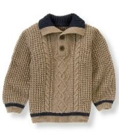 Collections Willow Bark Heather Heathered Cable Sweater by Janie and Jack Janie and Jack - Boy yrs - Kids Clothes, Boys Clothes, Baby Clothing, Children's Clothing and Boys Clothing at Janie and Jack Baby Boy Knitting Patterns, Knitting For Kids, Luxury Kids Clothes, Cable Sweater, Cable Knit, Little Boy Fashion, Boys Sweaters, Janie And Jack, Pulls
