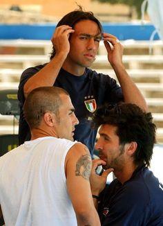 Alessandro Nesta, Fabio Cannavaro and Gianluigi Buffon