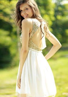 Gold Sequins Open Back Dress. where can you buys this????