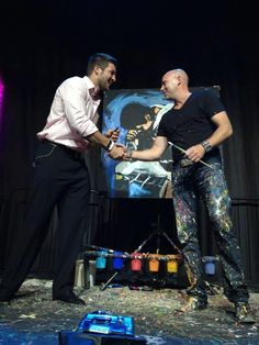 Stephen Fishwick's painting of Tebow just went for 32,000 dollars to support Hoffman Hospice! (June 19, 2012)