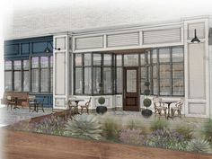 New downtown Austin brasserie with sunny patio sets opening date