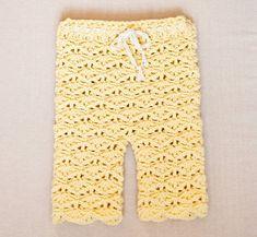 Crochet PATTERN Seamless Lace Leggings sizes baby toddler