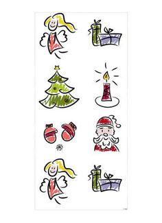 Motivdruck Weihnachtscomic Papier