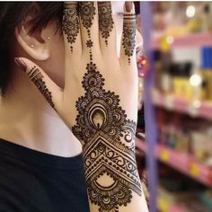 Trending Mehndi Designs For Your Occasions to WeddingYou can find Mehndi designs and more on our website.Trending Mehndi Designs For Your Occasions to Wedding Henna Hand Designs, Dulhan Mehndi Designs, Mehandi Designs, Mehendi, Modern Henna Designs, Mehndi Designs Finger, Indian Henna Designs, Simple Arabic Mehndi Designs, Unique Henna