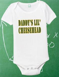 Hey, I found this really awesome Etsy listing at http://www.etsy.com/listing/106304449/green-bay-packers-onesie-packers-baby