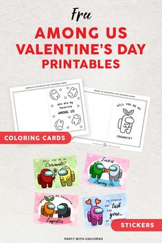 Printable Among Us Valentines Valentine Template, Valentines Day Party, Valentine Day Cards, Teacher Party, Valentines Day Quotes For Him, Valentine's Day Gift Baskets, Valentine's Cards For Kids, Valentine's Day Crafts For Kids, Cookie Tutorials