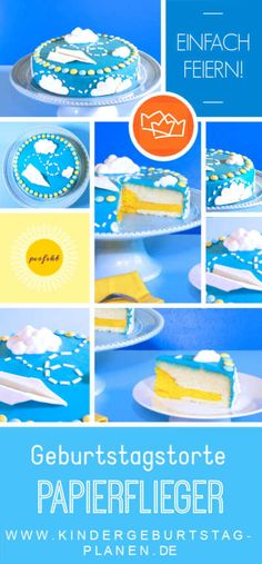 de With this step-by-step guide you will get this birthday cake too! Birthday Cake, Step Guide, Leo, Child, Airplane Birthday Cakes, Birhday Cake, Cake Servings, Planes Cake, Planes Birthday