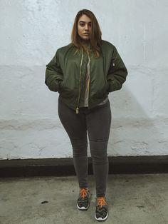 Camo & a Bomber Jacket by Nadia Aboulhosn #Fashion