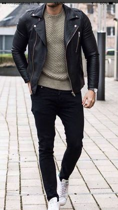 Men casual styles 46232333666286004 - Handmade Men's Genuine Black Fashionable Biker Jacket, Stylish Motorcycle Jacket Source by storenvy Mens Fashion Magazine, Business Mode, Business Casual, Leather Jacket Outfits, Leather Jacket For Men, Biker Jacket Outfit, Jacket Men, Leather Jackets, La Mode Masculine