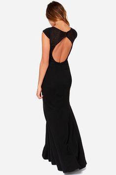 Lovely Black Dress - Cap Sleeve Dress - Maxi Dress - $248.00