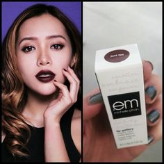 Michelle phan Em Cosmetics Just Fab Lipstick Love this dark color Lip Makeup, Beauty Makeup, Michelle Phan, Theatrical Makeup, Nail Set, Pretty Face, Beauty And The Beast, Asian Beauty, Makeup Looks