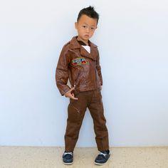 • L E A T H E R . J A C K E T . S E T • ➽ www.winnietriplets.com 皮夹克 . 가죽 재킷 . レザージャケット • #WinnieTriplets  #kids  #instakids  #children  #childrenphoto  #cute  #adorable  #young  #boy  #sweet  #little  #happy  #smile  #子供  #小孩  #可爱  #男の子  #かわいい  #きれい  #ig_kids  #ig_oyabakabu  #皮夹克  #レザ  ージャケット #가죽재킷