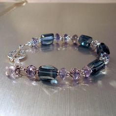 London Blue and Iolite Bracelet Iolite by JewelryByJacoby on Etsy, $89.00