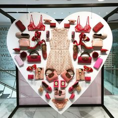 """STEFFL DEPARTMENT STORE, Vienna, Austria, """"Get ready for the most romantic day of the year"""", pinned by Ton van der Veer #luxuryjewelrydisplay"""