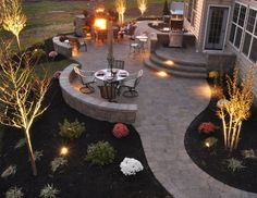 Backyard ideas--this would totally work for our new patio. More