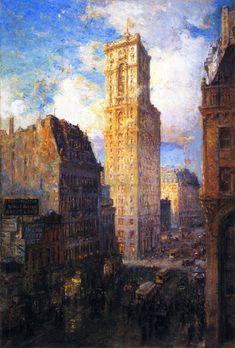 Colin Campbell Cooper (1856-1937) - The Rialto, 1907