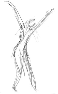 Drawing of a dancer by Patrik Zettergren