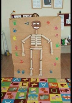 image gallery – page 338966309450593009 Toddler Learning Activities, Indoor Activities For Kids, Preschool Activities, Kids Learning, Kindergarten Crafts, Preschool Crafts, Diy Ghost Decoration, Skeleton Craft, Dramatic Play Centers