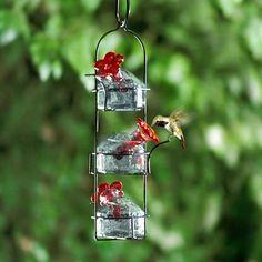 Hummingbird Feeder Recipe, Hummingbird Nectar, Hummingbird Garden, Diy Bird Feeder, Humming Bird Feeders, Nectar Recipe, Wire Jewelry Making, Recycled Glass, Bird Houses