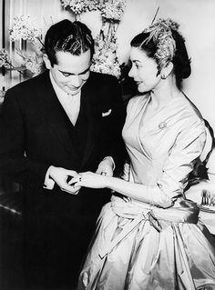 English Ballerina Dame Margot Fonteyn's wedding to Panamanian Roberto Arias in 1955.