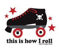 This is how I roll - roller derby sticker $1.49 #rollerderby www.dressderby.com