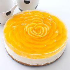 Peach Rose Cheesecake