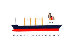 Cargo Ship Happy Birthday Card | SMALL ADVENTURE