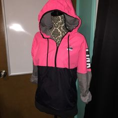 NWT VS PINK Anorak Jacket XS/S Brand new with tags Anorak Jacket  Size: XS/Small  Colors: Pink, Black, Charcoal gray, White PINK Victoria's Secret Jackets & Coats