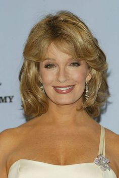 NEW YORK - MAY Actress Deidre Hall poses backstage at the Annual Daytime Emmy Awards on May 2004 at Radio City Music Hall, in New York City. (Photo by Peter Kramer/Getty Images) Deidre Hall, Radio City Music Hall, Days Of Our Lives, Hollywood Celebrities, Big Hair, Medium Hair Styles, Pretty Woman, Backstage, Bangs