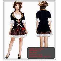 Pirates of the Caribbean Cosplay Black and Red Skull Pattern Pirate Costume Women Adult Halloween Costumes Fantasia Fancy Dress #Pirate Halloween Costumes For Women http://www.ku-ki-shop.com/shop/pirate-halloween-costumes-for-women/pirates-of-the-caribbean-cosplay-black-and-red-skull-pattern-pirate-costume-women-adult-halloween-costumes-fantasia-fancy-dress/