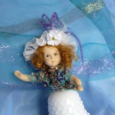 White Lady Glass Avon Lady Art Doll by by mystic2awesome on Etsy
