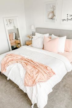Sharing my little bedroom refresh, my local homewares store has the goods! How gorgeous is this. Cute Bedroom Decor, Bedroom Decor For Teen Girls, Room Ideas Bedroom, Teen Room Decor, Stylish Bedroom, Small Room Bedroom, Bedroom Inspo, Pink Teen Bedrooms, Small Teen Room