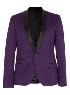 Topman purple skinny tux jacket. Love the colour and the shawl collar.