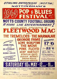 Pink Floyd and Fleetwood Mac gig poster