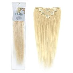 Emosa Luxury 100% Real Remy Human Hair Extensions Clip in...